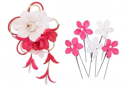 和装 髪飾り セット | 蘭 花びら揺れる 和装髪飾り ヘアクリップ 1点 Uピン 5本 セット【画像19】
