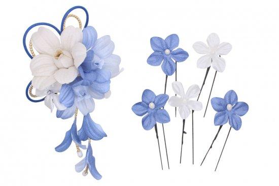 和装 髪飾り セット | 蘭 花びら揺れる 和装髪飾り ヘアクリップ 1点 Uピン 5本 セット【画像21】