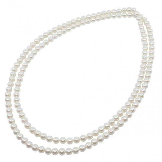 ロングパール パール ネックレス 120センチ 8ミリ珠 保管ケースつき【画像15】