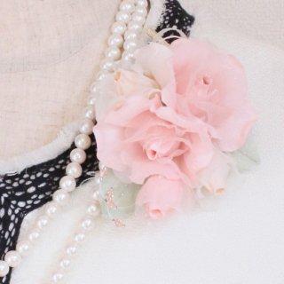 コサージュ | レッド  ・ ピンク ピンク 小さい バラ コサージュ ケース付き