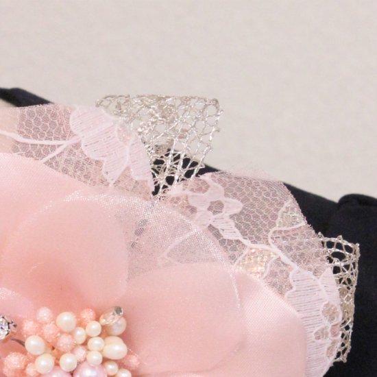 ピンク 大きめ 一輪 コサージュ ケース付き【画像10】