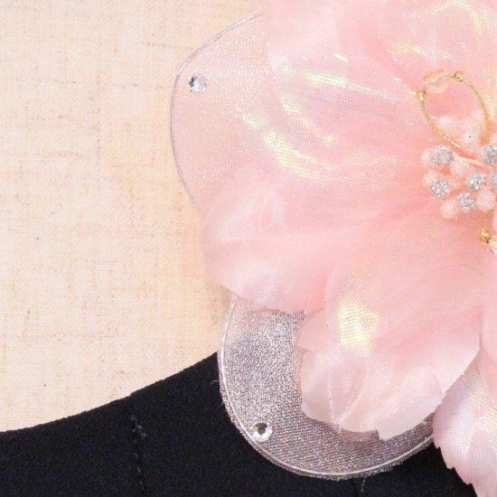 ピンク 小さめ 光沢 一輪 コサージュ ケース付き【画像9】