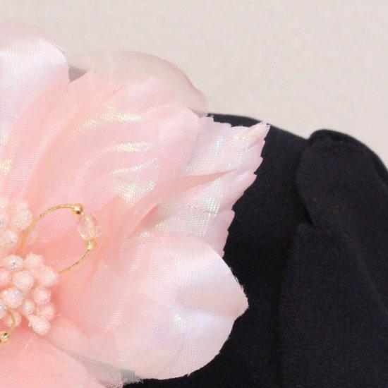ピンク 小さめ 光沢 一輪 コサージュ ケース付き【画像10】