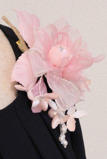 ピンク バラ 小花 コサージュ ケース付き【画像6】
