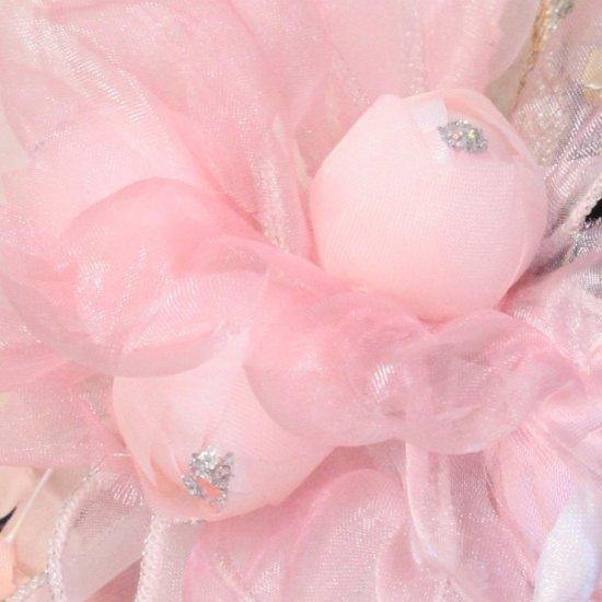 ピンク バラ 小花 コサージュ ケース付き【画像7】
