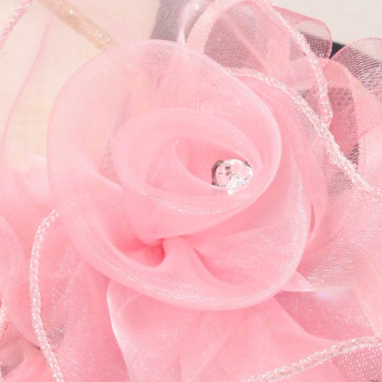 ピンク 巻きバラ コサージュ パール 下がりつき ケース付き【画像7】