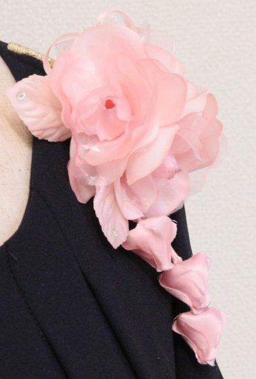 ピンク 小さい バラ 三輪 蕾 下がりつき コサージュ ケース付き【画像7】