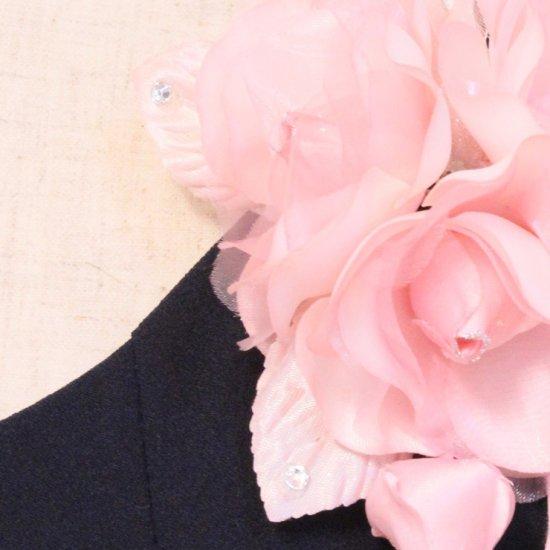 ピンク 小さい バラ 三輪 蕾 下がりつき コサージュ ケース付き【画像10】