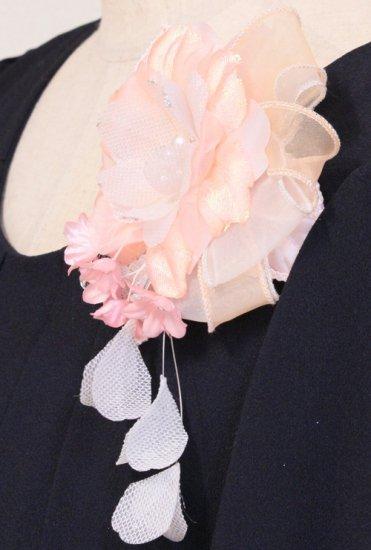 ピンク 一輪 小花 下がりつき コサージュ ケース付き【画像6】