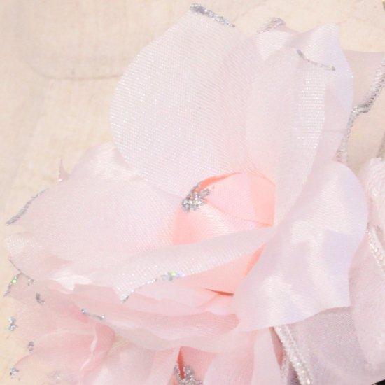 ピンク 三輪 小花 パール コサージュ ケース付き【画像8】