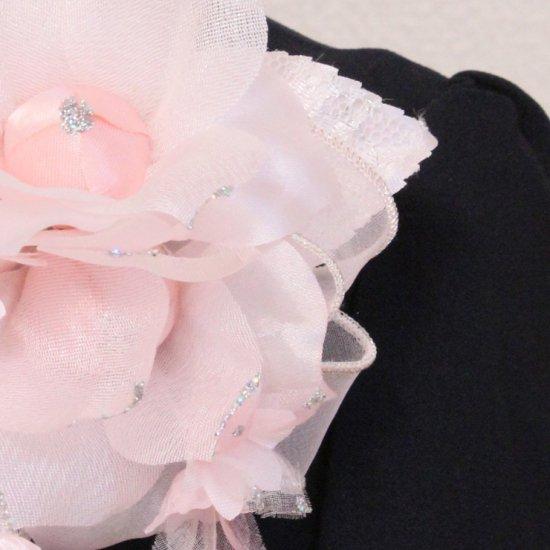 ピンク 三輪 小花 パール コサージュ ケース付き【画像10】