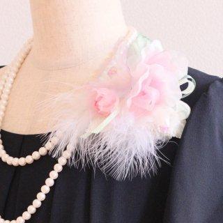 和装 髪飾り | 価格で選ぶ  ピンク バラ 羽根 コサージュ ケース付き