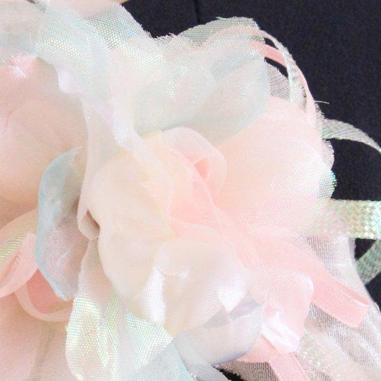 ピンク グリーン 緑 光沢 ビーズ コサージュ ケース付き【画像8】