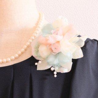 和装 髪飾り | 価格で選ぶ  ピンク グリーン 緑 パール コサージュ ケース付き