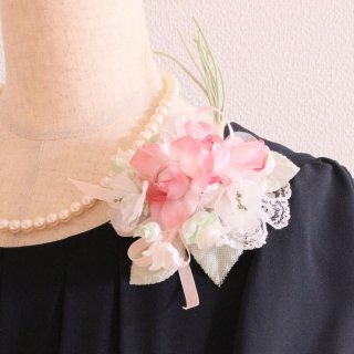 和装 髪飾り | 価格で選ぶ  ピンク グリーン 緑 ホワイト 白 コサージュ ケース付き