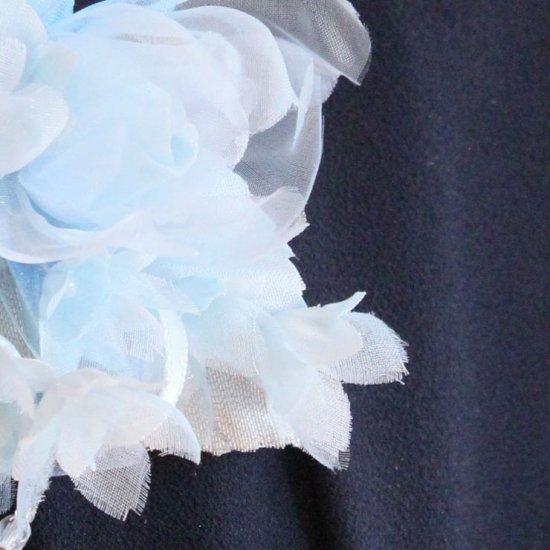 ブルー 水色 小さい バラ 小花 コサージュ ケース付き【画像11】