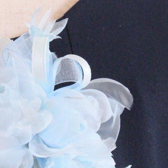 ブルー 水色 小さい バラ 小花 コサージュ ケース付き【画像10】