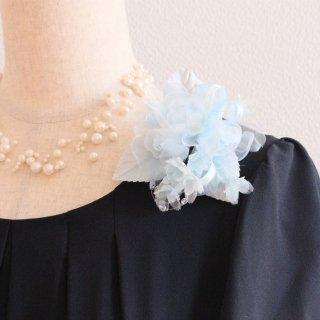 コサージュ | 仕様で選ぶ ブルー 水色 小さい バラ 小花 コサージュ ケース付き