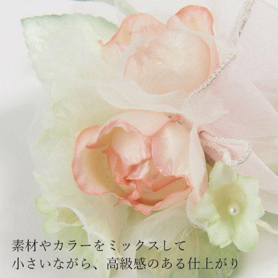小さな バラ の フォーマルコサージュ ケース付き【画像8】