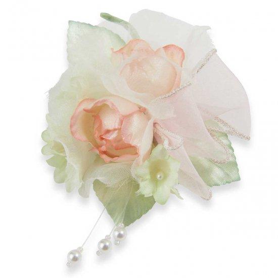 キッズ 小さな バラ の フォーマルコサージュ ケース付き【画像11】