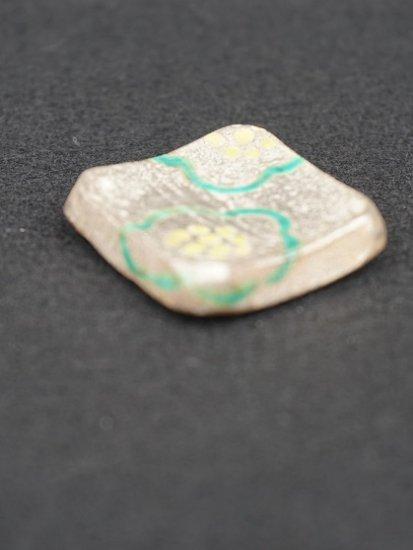 [蔵珍窯]銀彩梅紋 角箸置