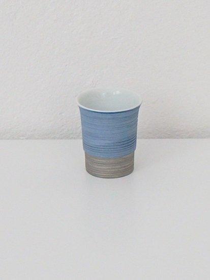 [宝山窯]青彩盃 青×銀