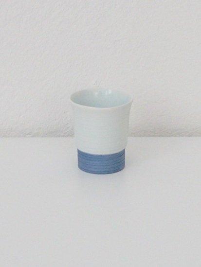[宝山窯]青彩盃 白×青