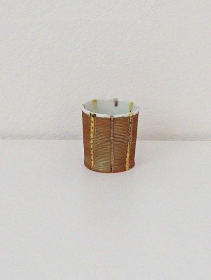 [宝山窯]点十草プラチナ彩ぐい呑み
