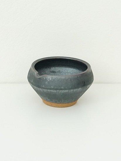 [別所窯]黒釉片口 B