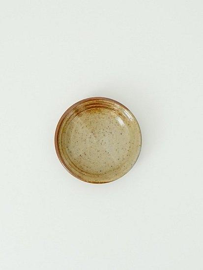 [別所窯]灰釉塗分け小皿