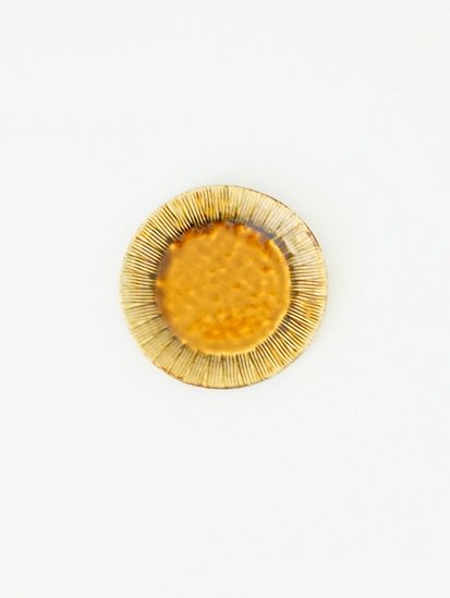 [玉山窯]黄瀬戸5寸銘々皿