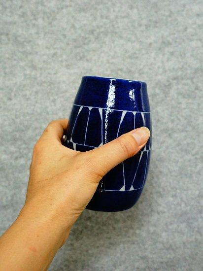 [かもしか道具店]ビールの杯 藍