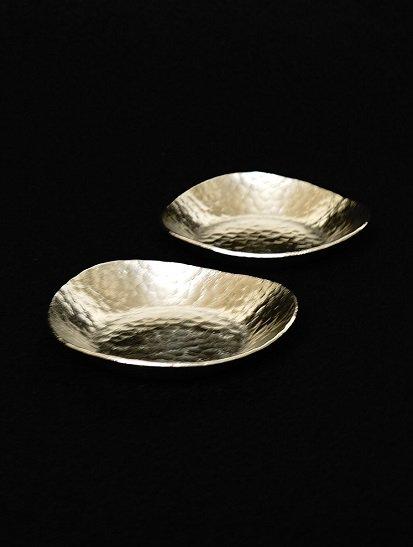 [下山普行]錫鎚目三方小皿#1