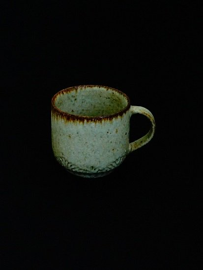 [ 伊藤 豊 ]波紋マグカップ 粉引