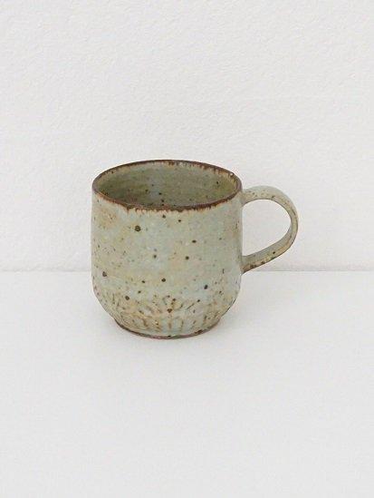 [ 伊藤 豊 ]波紋マグカップ(ショート)灰粉引