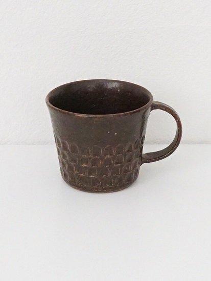[ 伊藤 豊 ]ブロックマグカップ(ストレート)茶