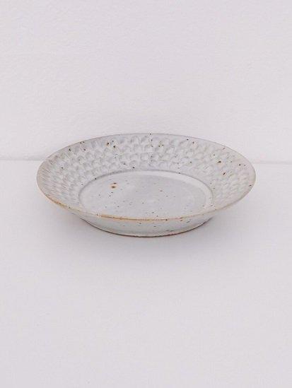[ 伊藤豊 ]ブロック6.5寸深皿 粉引