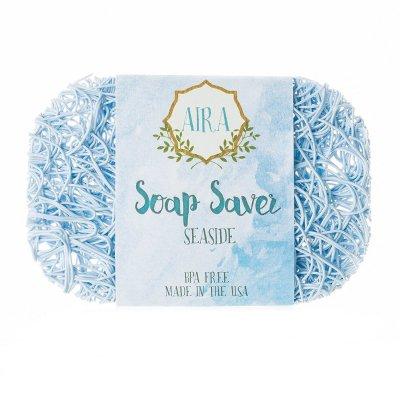 【アイラ AIRA】ナチュラルソープディッシュ トウモロコシと大豆由来の石鹸置き(ライトブルー)