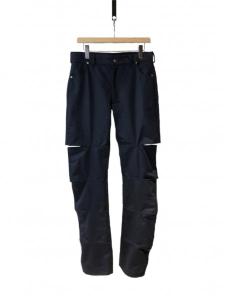 Navy Pant With Open Parts