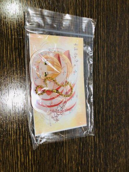 【お茶類を1080円以上お買い上げの方限定】鹿子木灯先生まねきねこアクキー(すまねき)