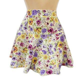 【オリジナル】花柄二段フレアースカート