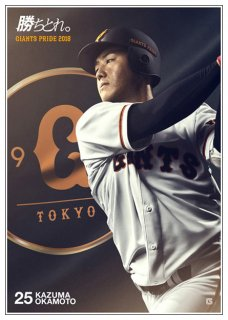 <img class='new_mark_img1' src='//img.shop-pro.jp/img/new/icons41.gif' style='border:none;display:inline;margin:0px;padding:0px;width:auto;' />GIANTS PRIDE 2018 ポスター 25岡本和真