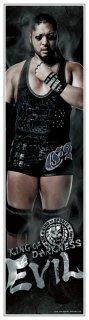 """新日本プロレス """"キング・オブ・ダークネス""""EVIL 等身大フィルムポスター 《身長178cmを再現の大迫力!》《フィルム素材だからずっと綺麗なまま貼れる!》"""