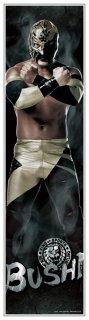 新日本プロレス BUSHI 等身大フィルムポスター 《身長172cmを再現の大迫力!》《フィルム素材だからずっと綺麗なまま貼れる!》