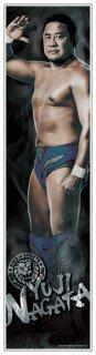 新日本プロレス 永田裕志 等身大フィルムポスター 《身長183cmを再現の大迫力!》《フィルム素材だからずっと綺麗なまま貼れる!》