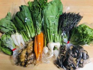 ひふみ野菜お任せセット(12月)発送は月曜または火曜です