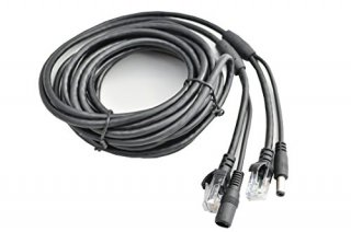 防犯カメラ用 LAN&電源延長ケーブル 1本組み合わせ 5m