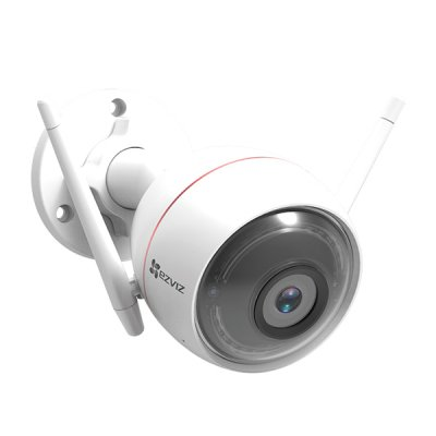 C3W/C3W Color Night Vision 発光LED搭載 防水防塵 200万画素 1080p ワイヤレス wifi 監視カメラ -EZVIZ
