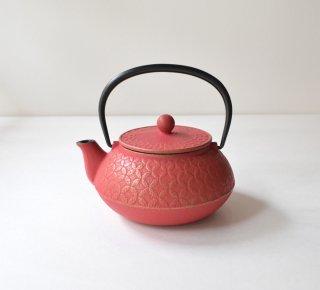 南部鉄器 5型七宝急須 金/紅梅色