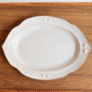 Western-antique 洋皿オーバルプレート大 ホワイト